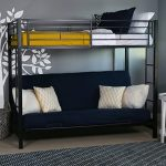 walker edison metal futon