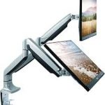 dual monitor mount stand
