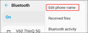 Change the Bluetooth Name on Android